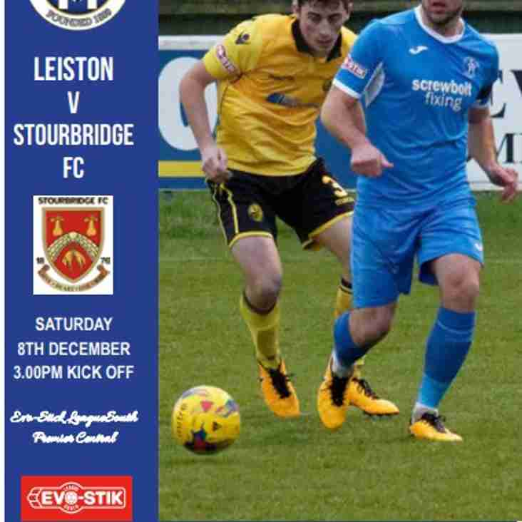 E'Programme now 'Online' Blues v Stourbridge