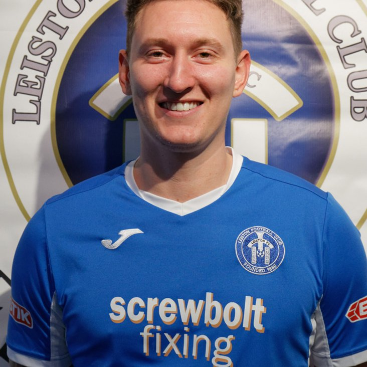 Christy Finch reaches 150 club appearances for Leiston<