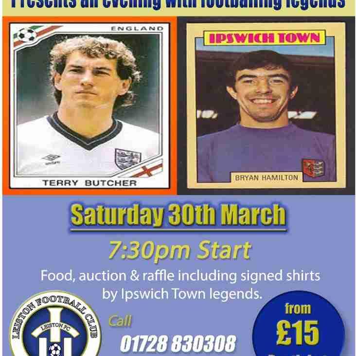 An Evening with Terry Butcher & Bryan Hamilton