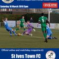 Blues v St Ives Programme now available Online