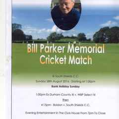 Bill Parker Memorial Cricket Match