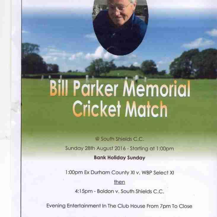 Bill Parker Memorial Cricket Match