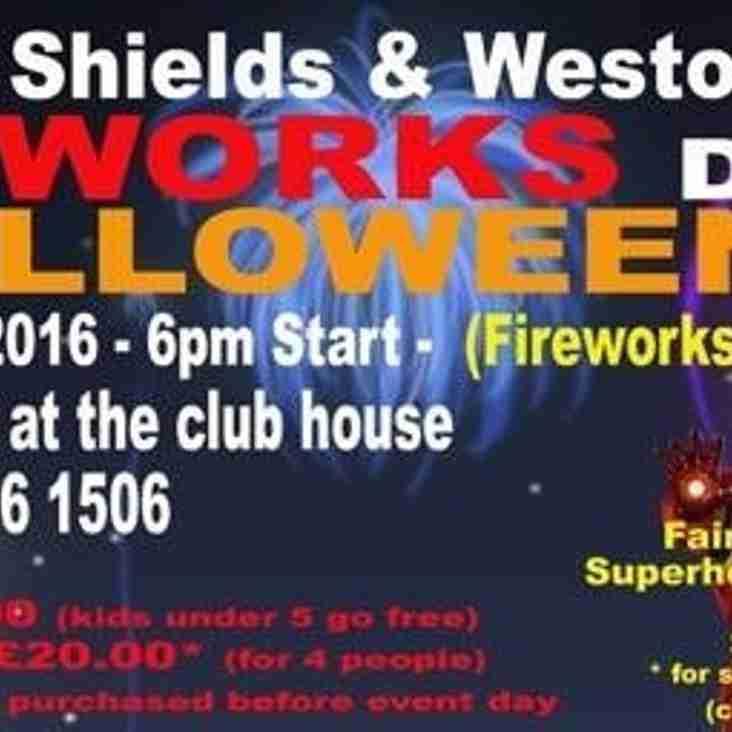 South Shields Westoe Firework Display