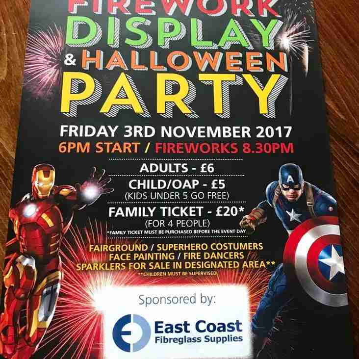 South Shields and Westoe - Firework Display and Halloween Party