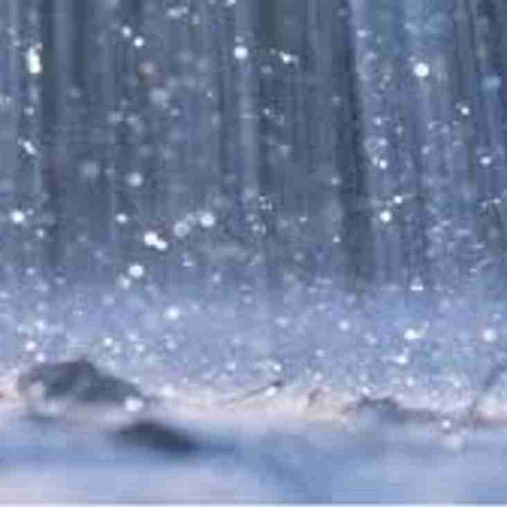Reserves game off tonight - Waterlogged pitch