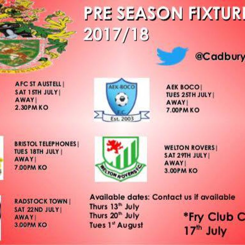 Pre Season Friendlies