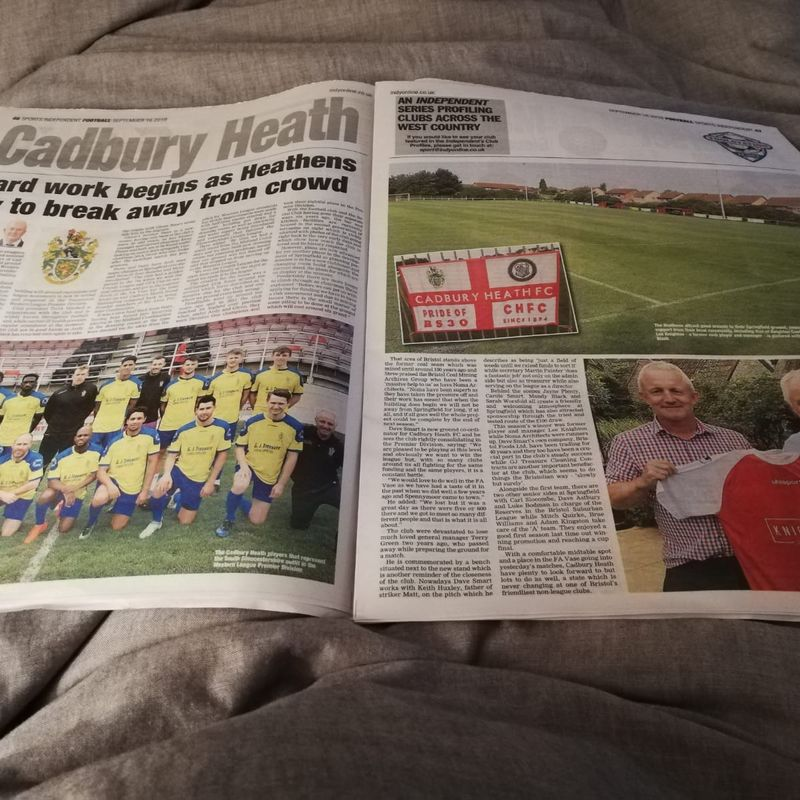 Heath Featured In Sunday Independant