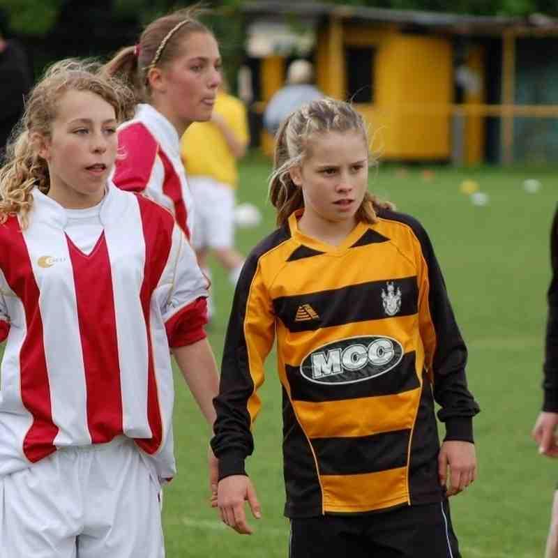Archive Melksham Town Girls team 2009 - 2014
