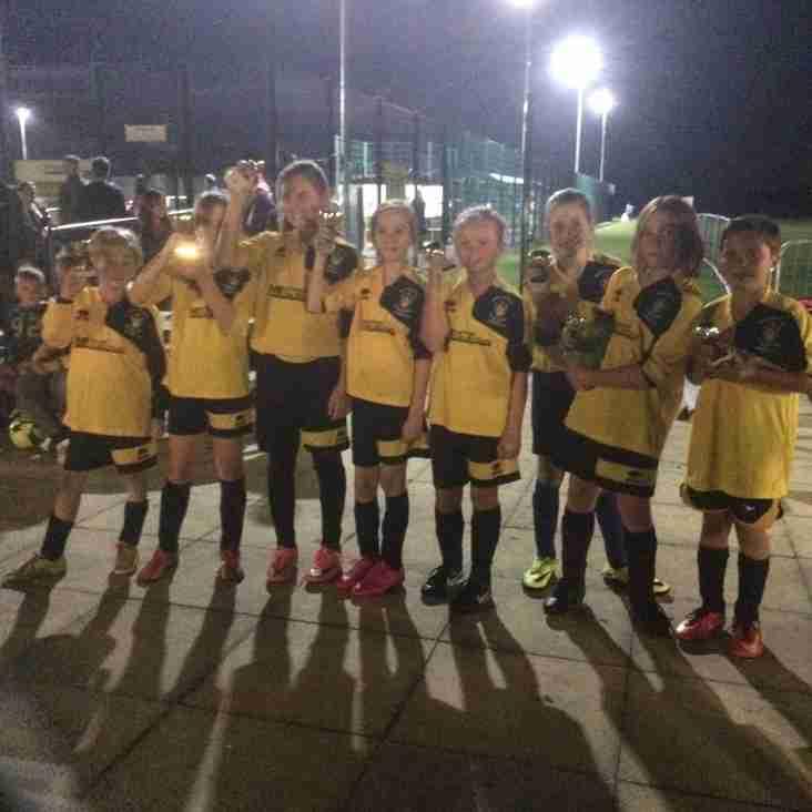 U11 Girls Runners up At FC Chippenham Tournament