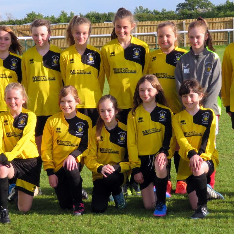 Under 12 Girls beat Wootton Bassett 3 - 5