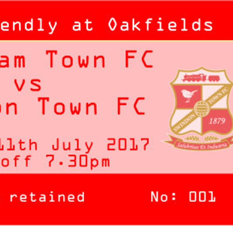 Swindon Ticket update