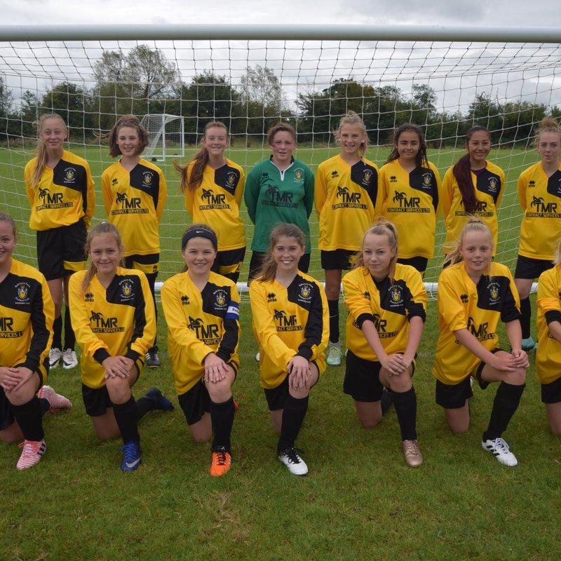 Under 13 Girls Black beat Derry Hill 3 - 1