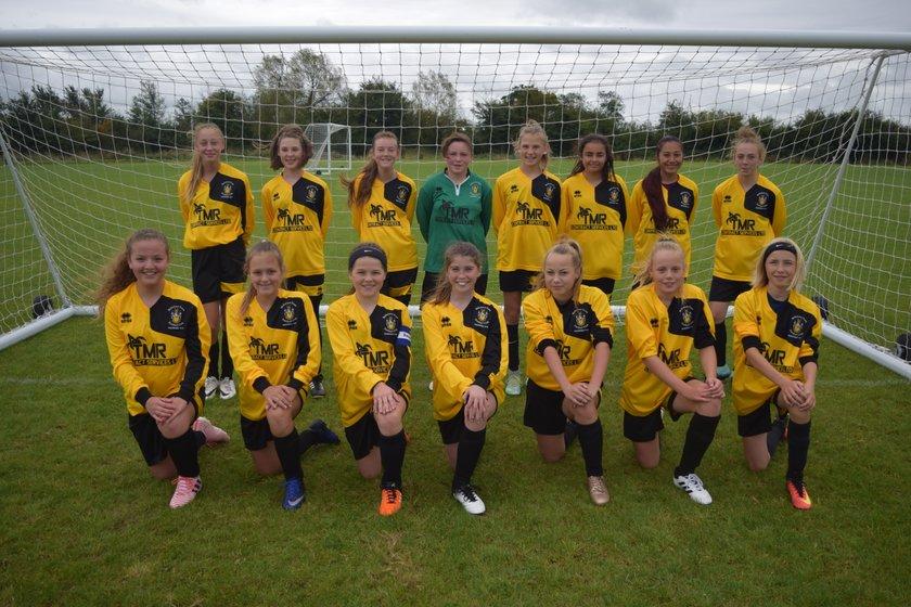 Under 13 Girls Black beat FC Chippenham hawks 2 - 3