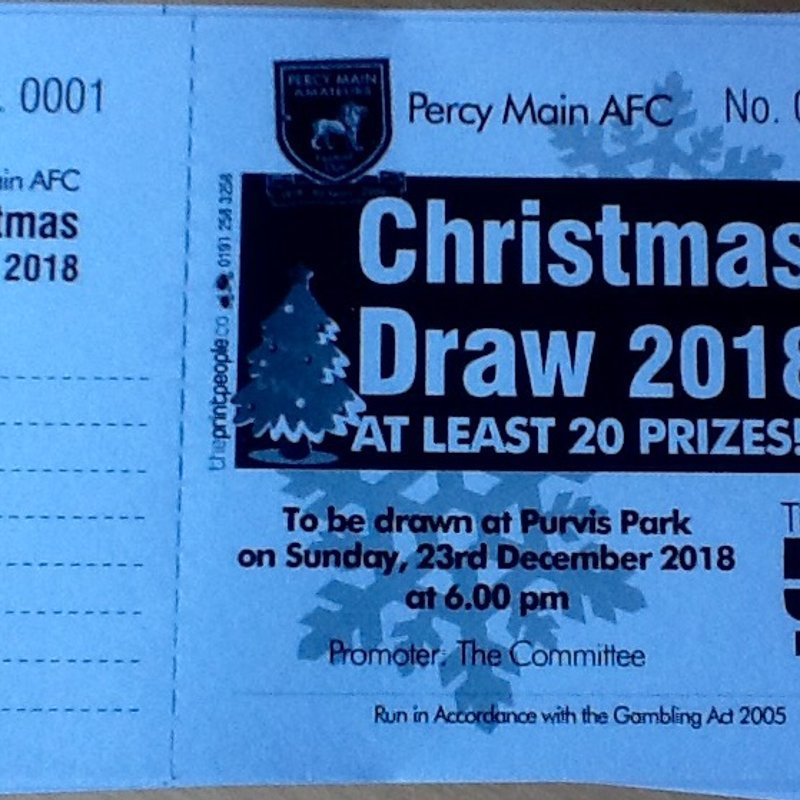 Percy Main AFC Christmas Draw