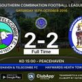 Heath Left Frustrated At Peacehaven