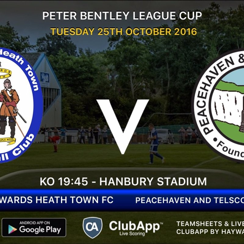 Next Match -Peacehaven - Peter Bentley Cup Round 3