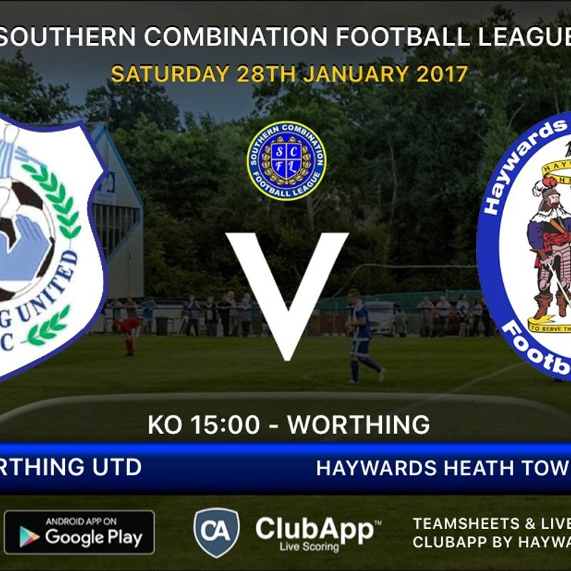 Next Match - Worthing Utd- Away