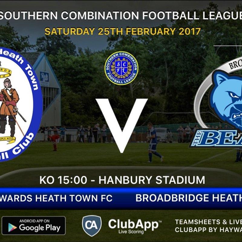 Next Match - Broadbridge Heath FC  - Home