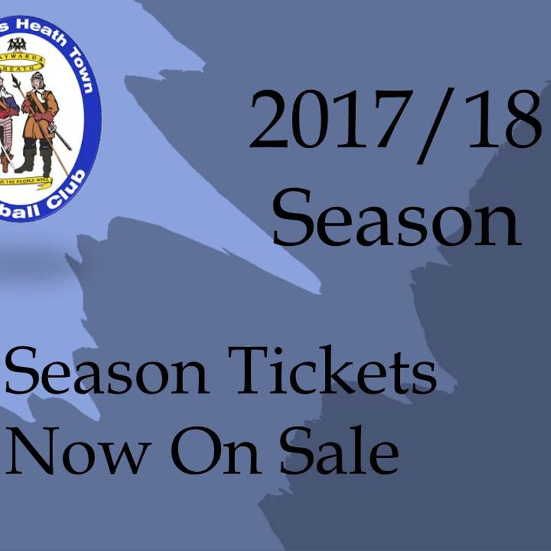 Season Tickets Now Available - Price Freeze