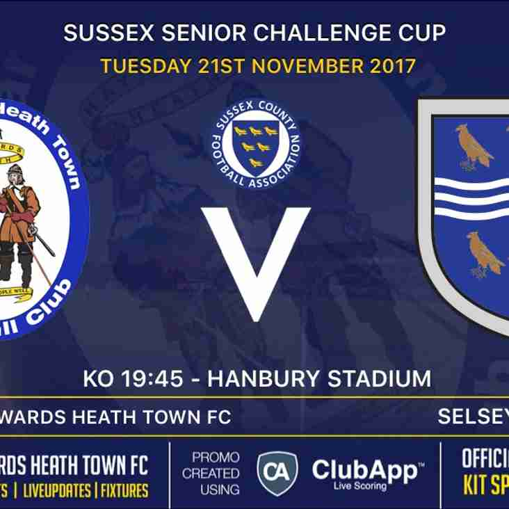 Sussex Senior Cup 2nd Round Tonight (Tuesday 21st Nov)