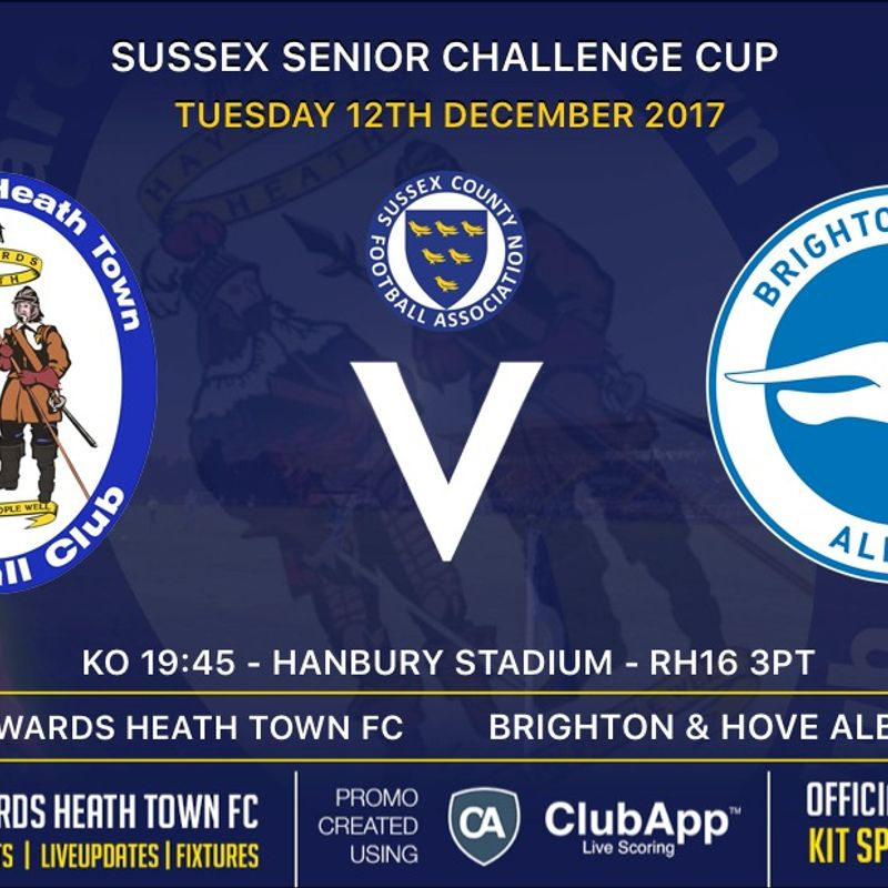 Next Match - Brighton & Hove Albion U23's - Home - SCFA Senior Cup 3rd Round