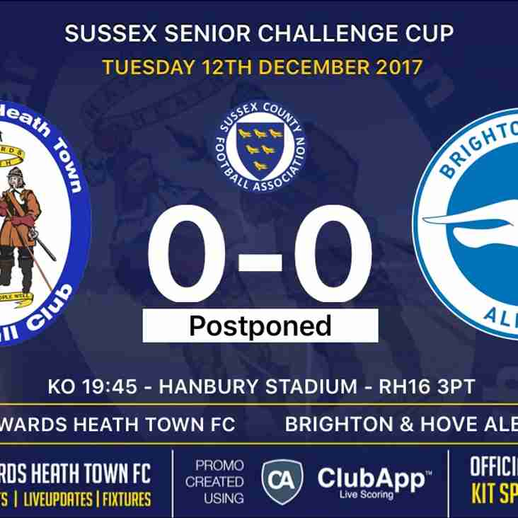 Brighton & Hove Albion game postponed