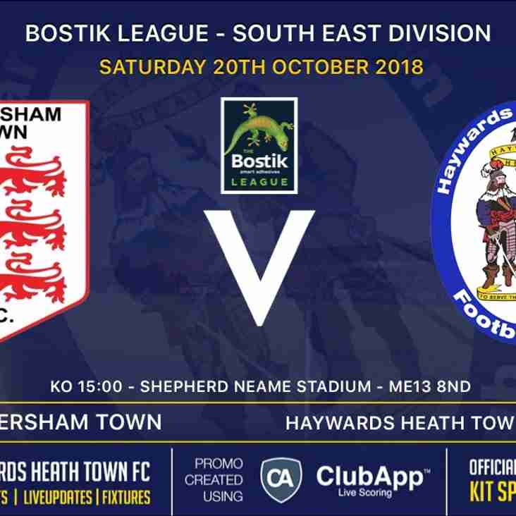 Saturday Preview Away to Faversham