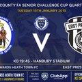 Quarter Final Cup Action at Hanbury Tonight