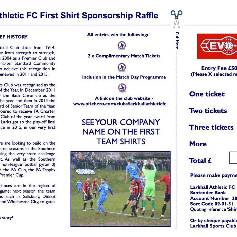 First team shirt sponsorship