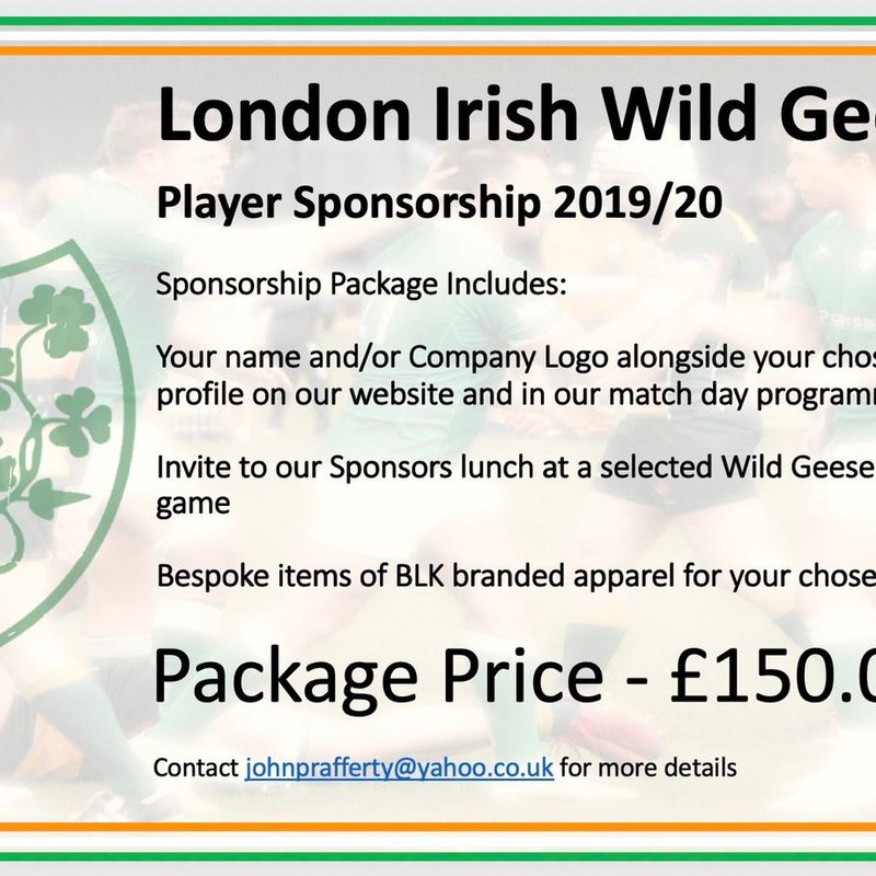 Sponsorship Opportunities of Wild Geese Players Now Open