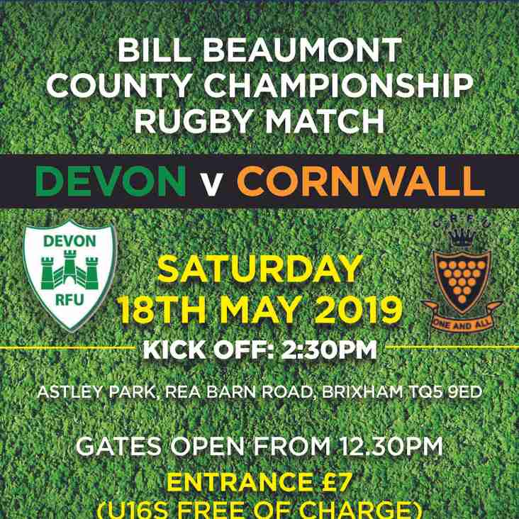 Bill Beaumont County Championship Rugby Match