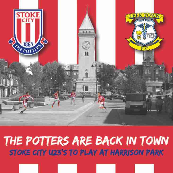 STOKE U23s RETURN TO LEEK TOWN