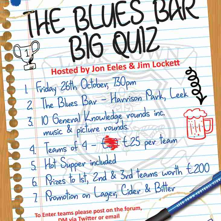 QUIZ NIGHT AT THE BLUES BAR