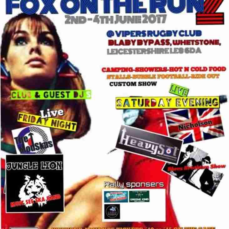 Fox on the run 2 - Leicestershire alliance scooter club rally (2nd June - 4th June)