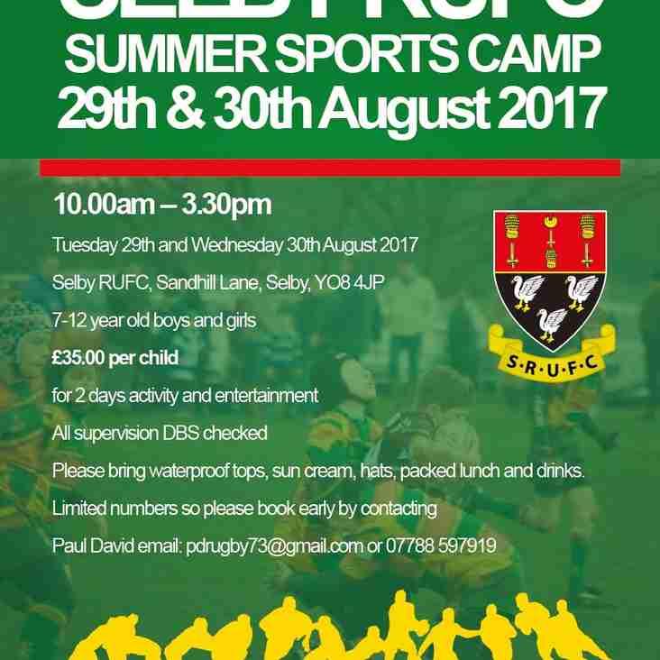 SUMMER SPORTS CAMP 2017