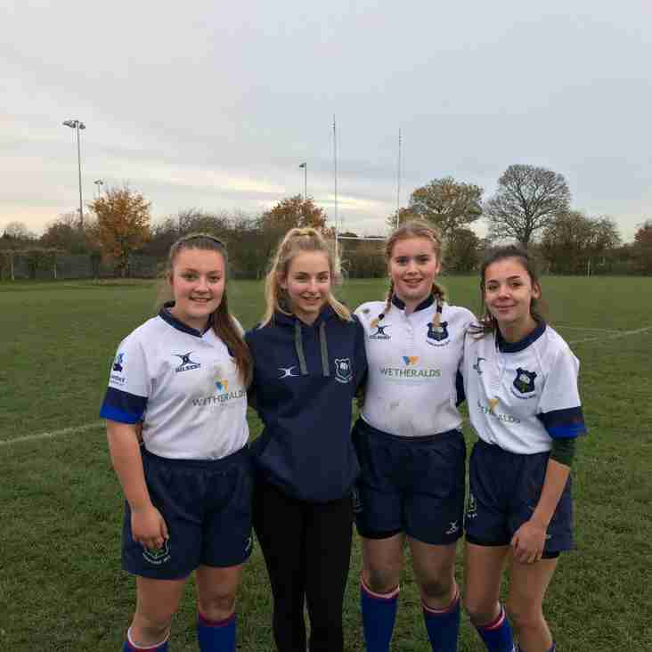 Further success for Selby RUFC players with Yorkshire 15s Girls