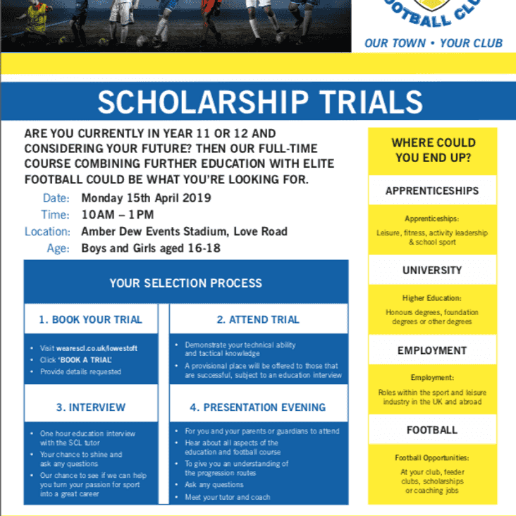 Scholarship Trial - Monday 15th April 2019, 10am - 1pm