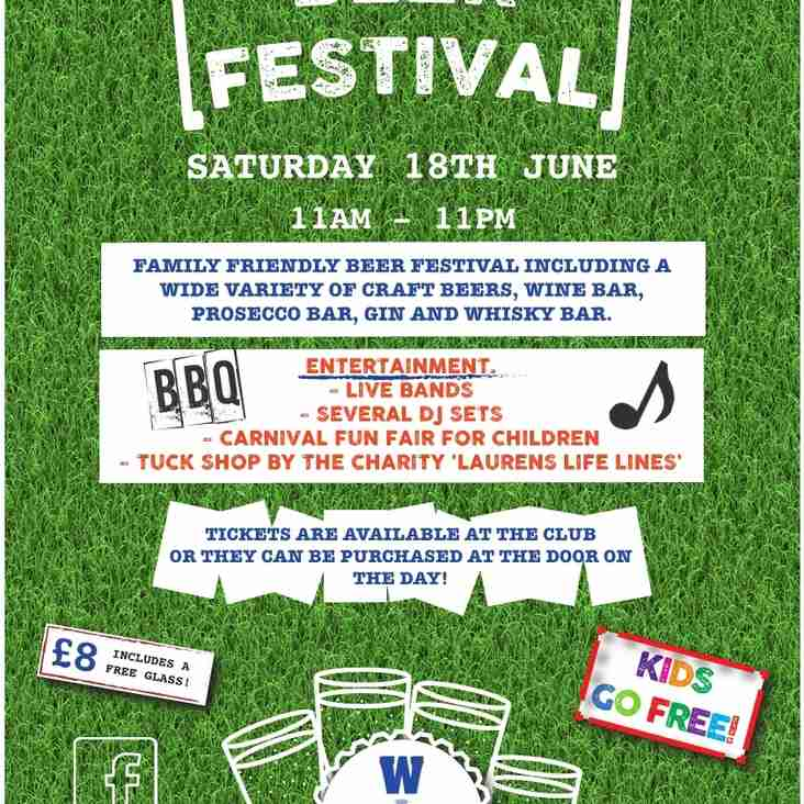BEER FESTIVAL This Saturday