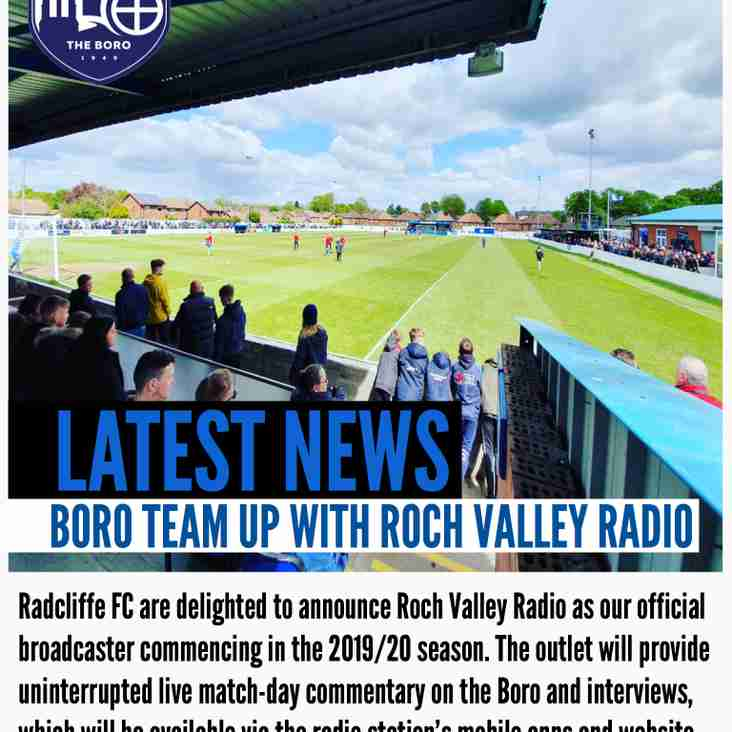 Radcliffe FC and Roch Valley Radio partnership