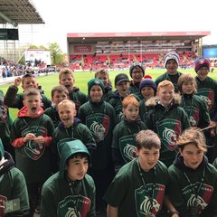 Lichfield U11s provide guard of honour at Welford Road