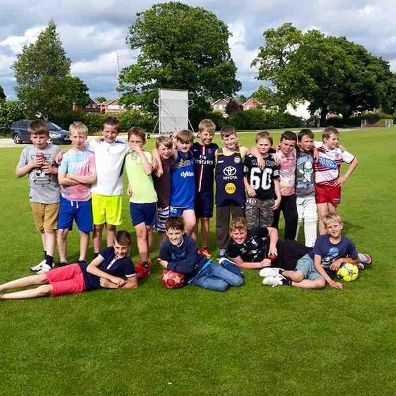 U 11 Cricket match Players v Parents