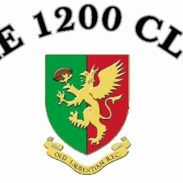 OLRFC 1200 Club - Minimum 1st Place Prize of £150 per Month!