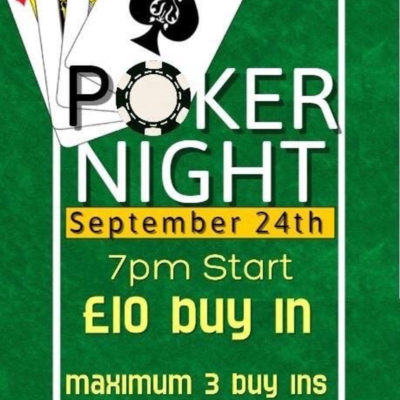 Poker night Saturday 24th September