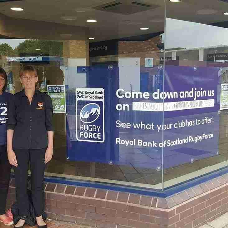 Thank You to Royal Bank of Scotland Glenrothes
