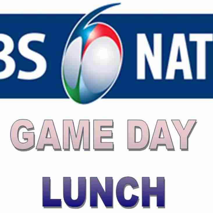 Game Day Lunch on 25th February