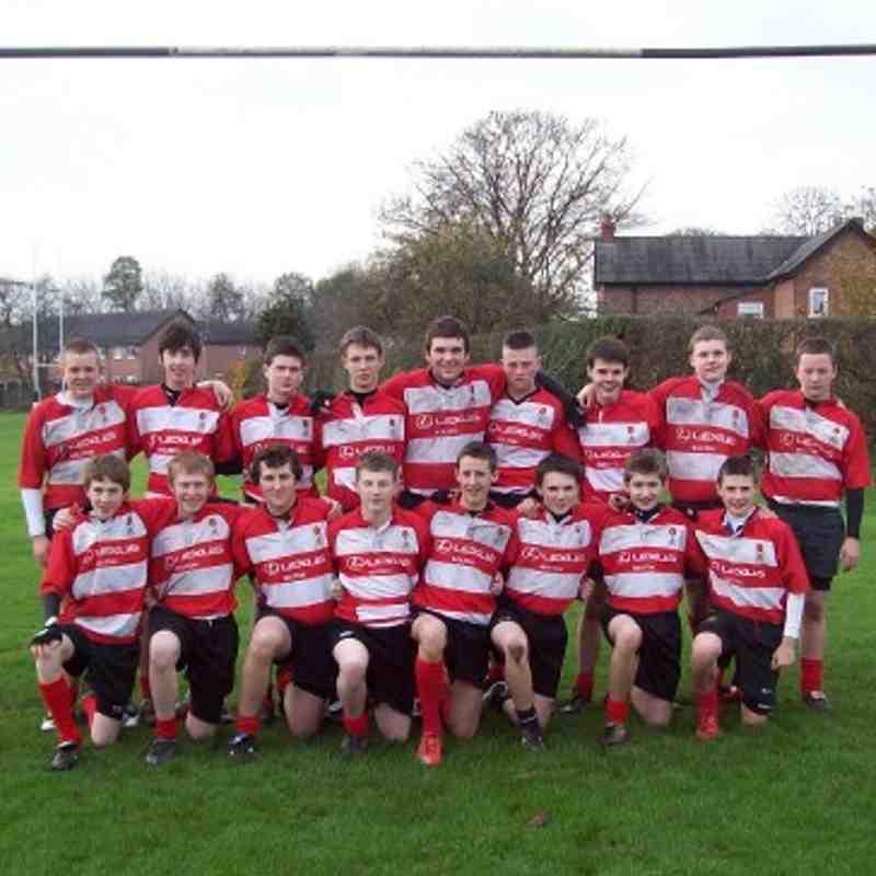 Under 16's team photo