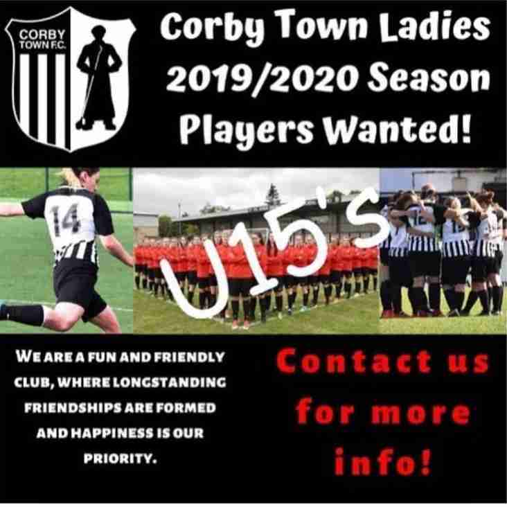 Corby Town Girls U14's - Moving to U15's
