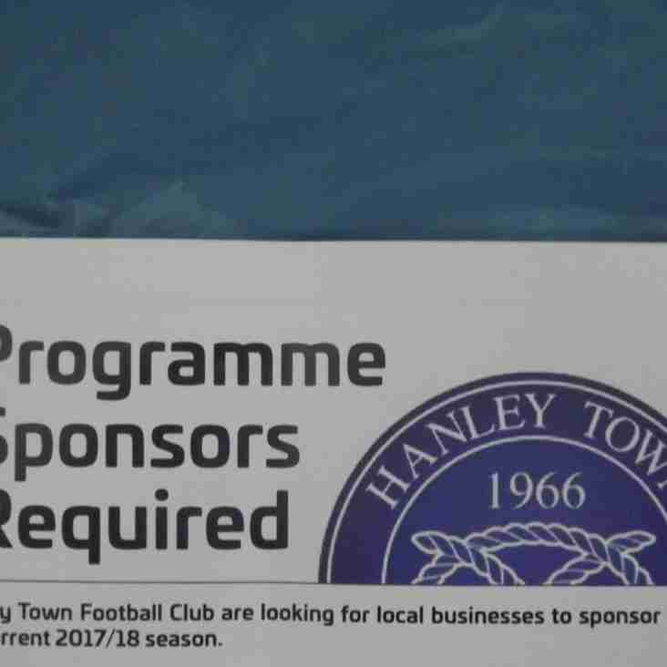 PROGRAMME SPONSORS REQUIRED