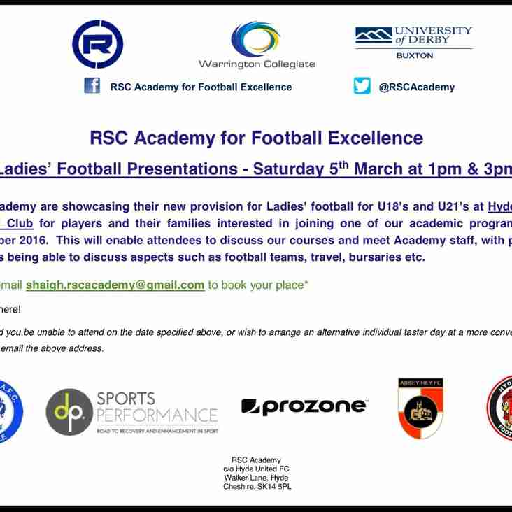 LADIES TRIALS - Saturday 5th March