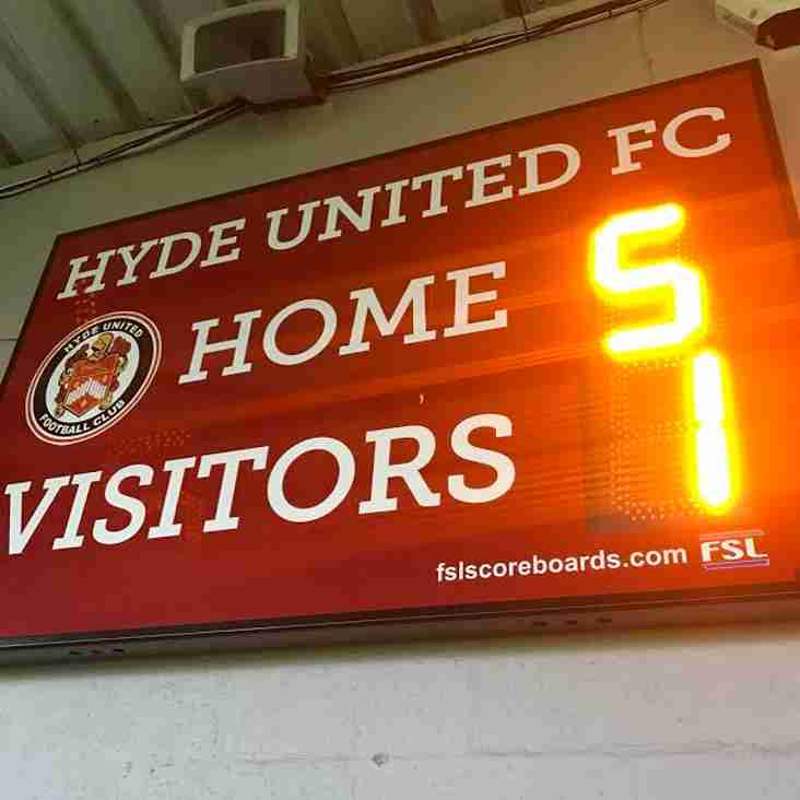 HYDE UNITED FC 5-1 BRIGHOUSE TOWN FC